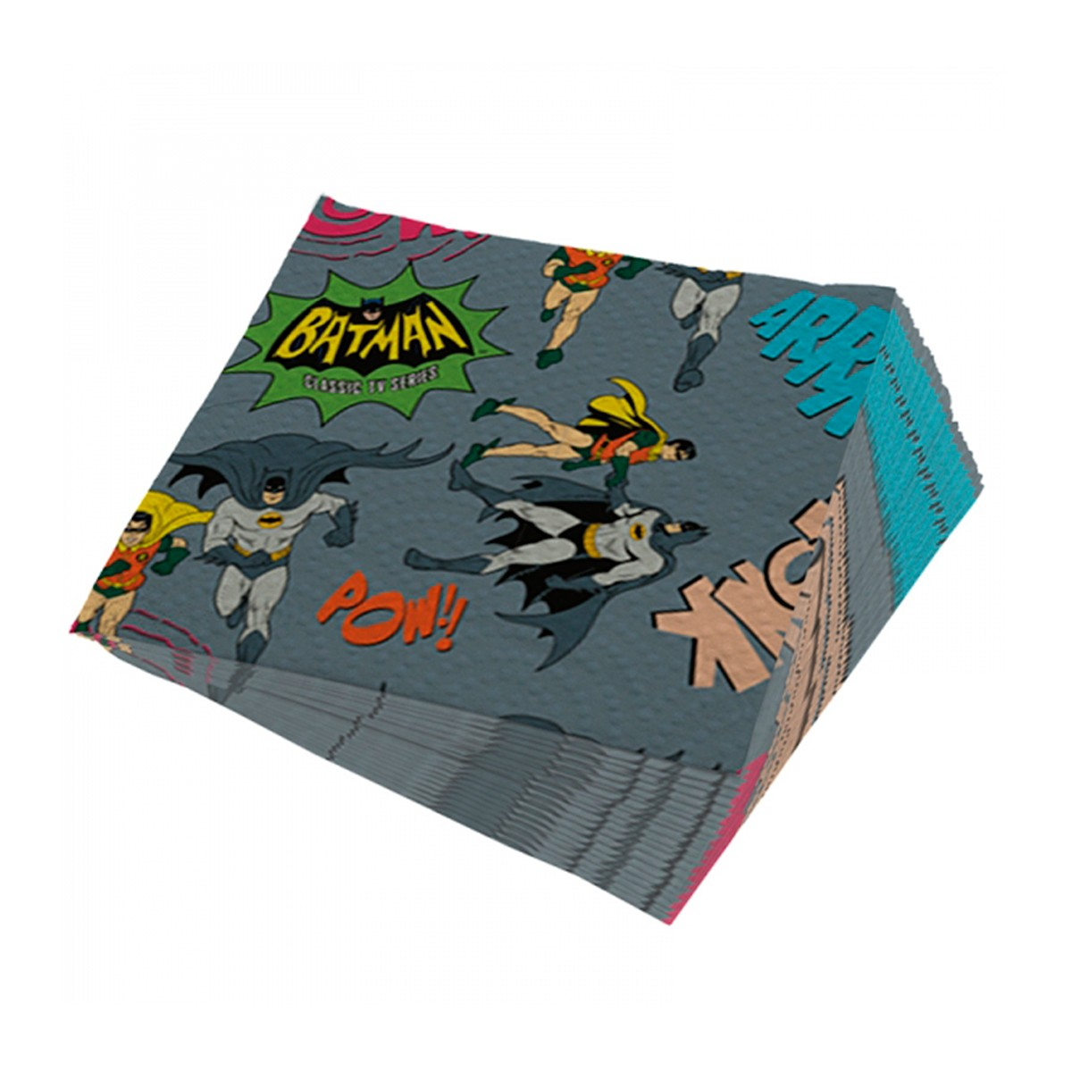 Guardanapos de papel Batman e Robin Onomatopéias