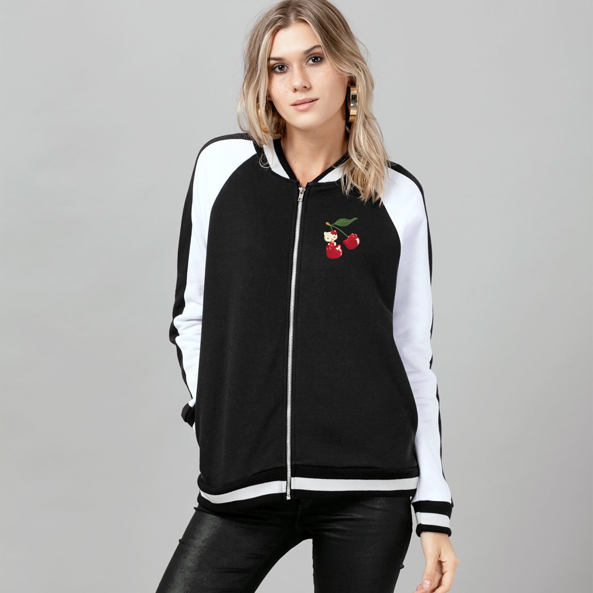 Jaqueta Bomber Hello Kitty Cherry