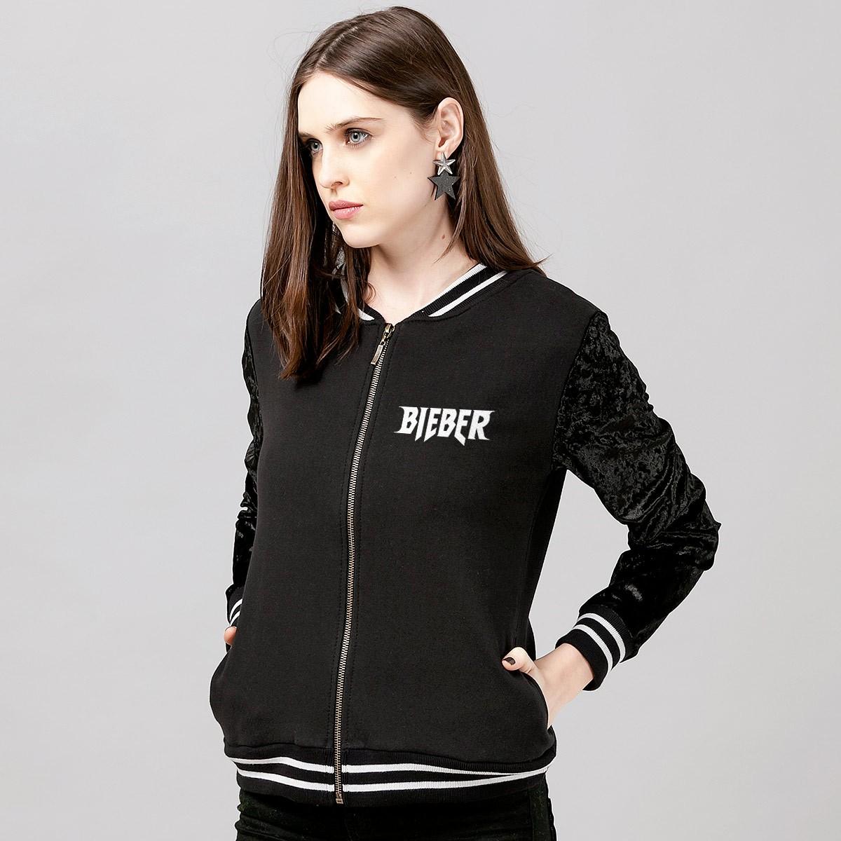 Jaqueta Veludo Justin Bieber Purpose Tour 2017