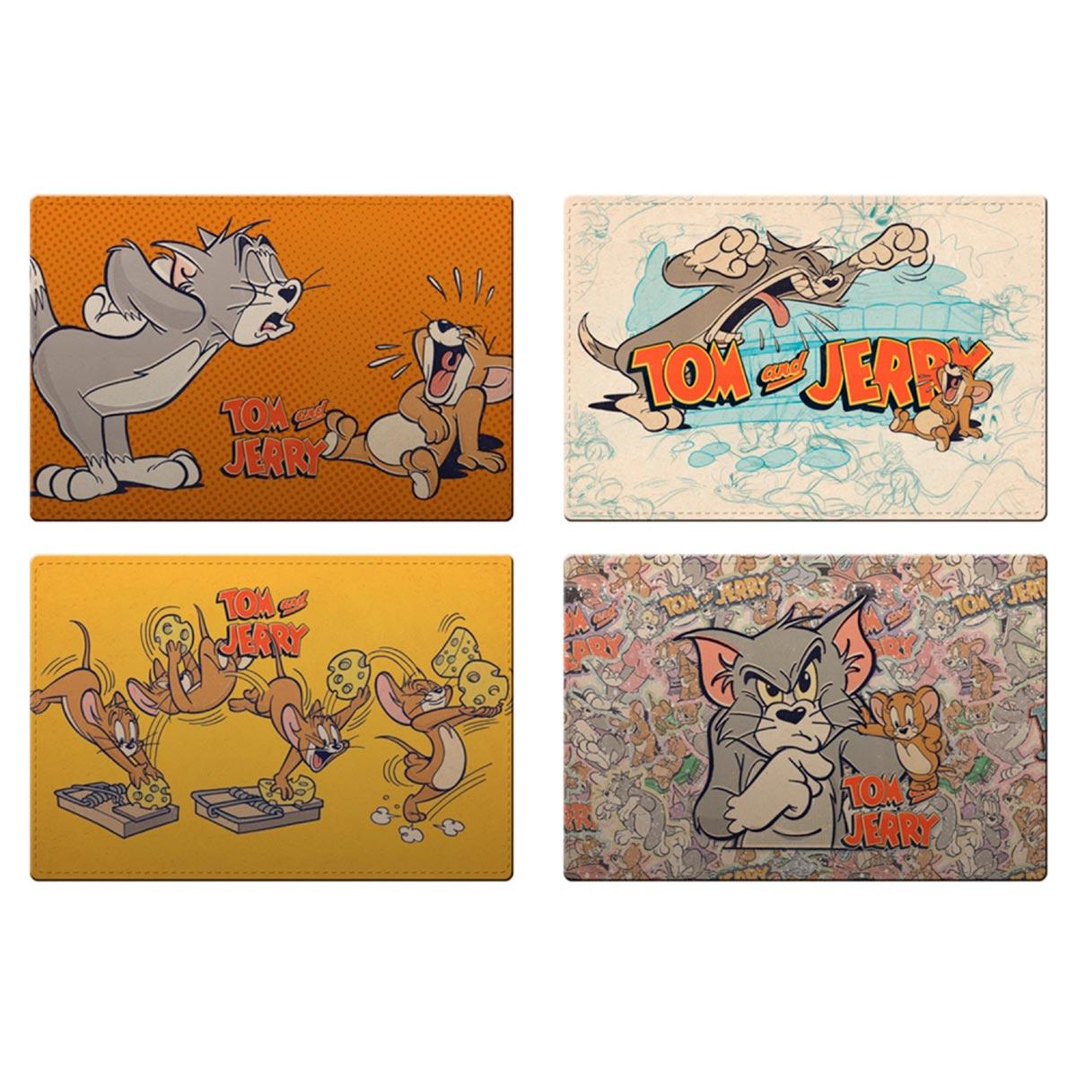Jogo Americano com 4 peças Tom e Jerry