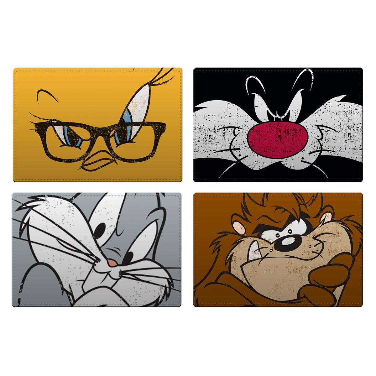 Jogo Americano com 4 Peças Looney Tunes Piu-Piu, Frajola, Pernalonga e Taz