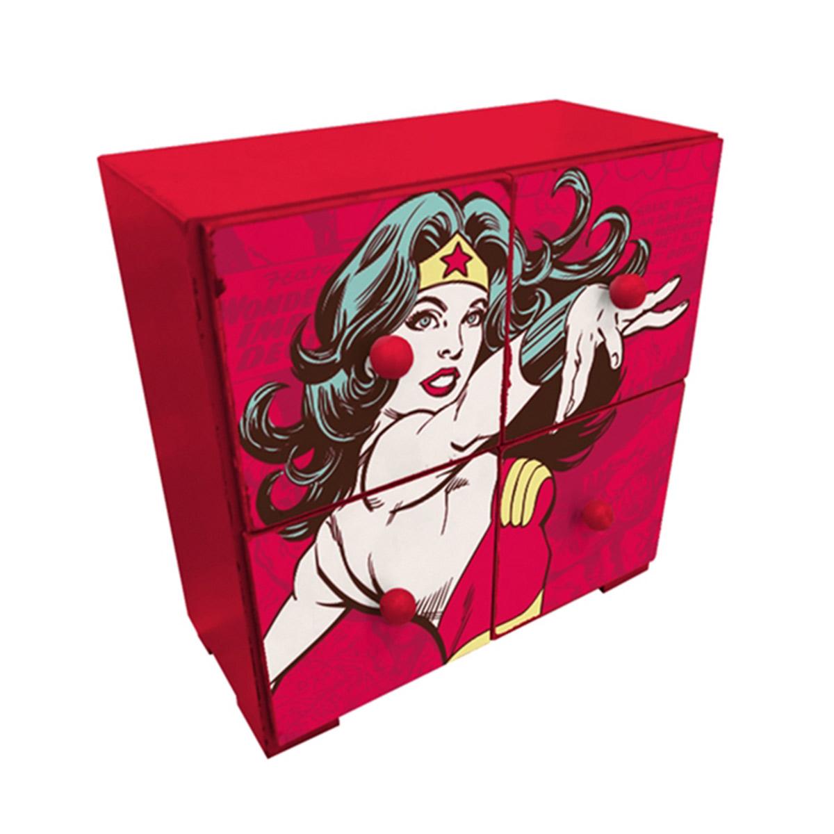 Mini Gaveteiro Wonder Woman Power