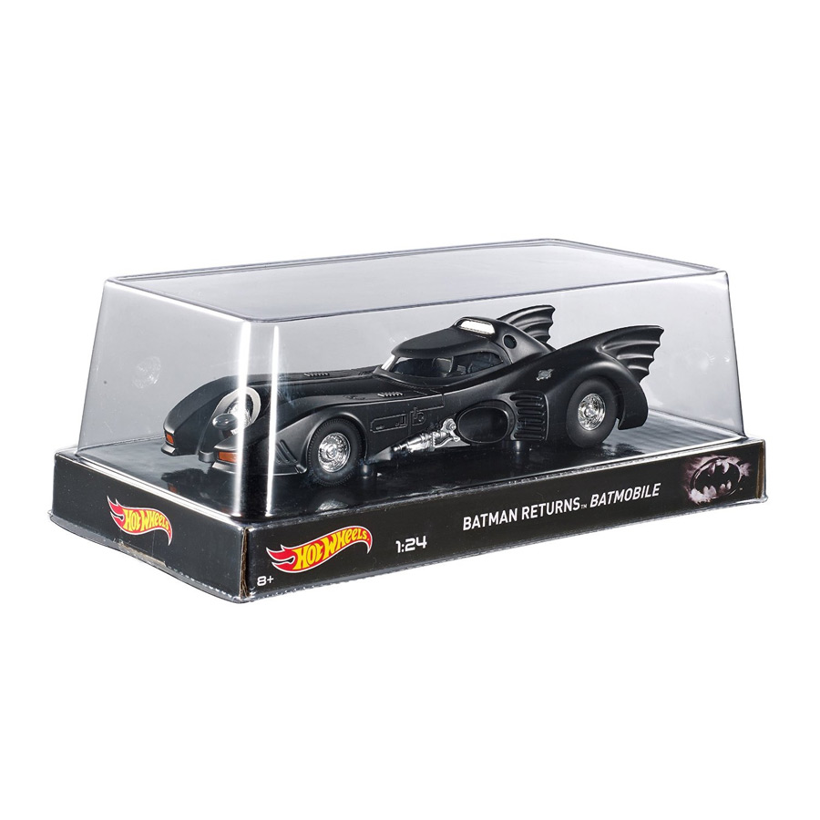 Miniatura Batmóvel Batman Returns 1989 (Michael Keaton) Hot Wheels 1:24
