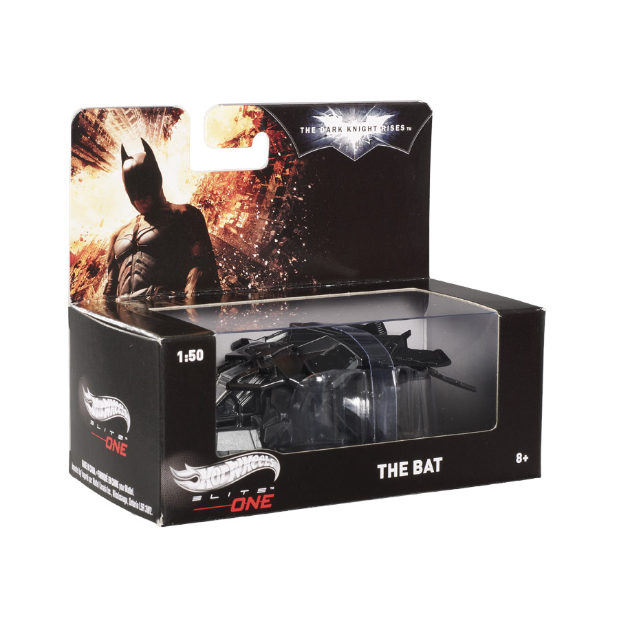 Miniatura Nave The Bat Batman The Dark Knight Rises Hot Wheels Elite One 1:50