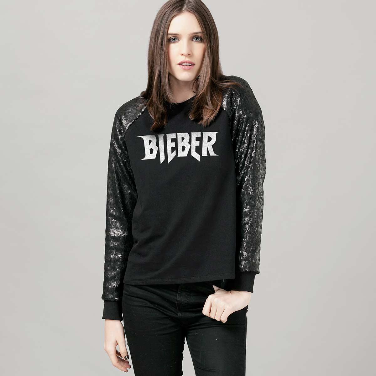 Moletinho Paetê Justin Bieber BIEBER