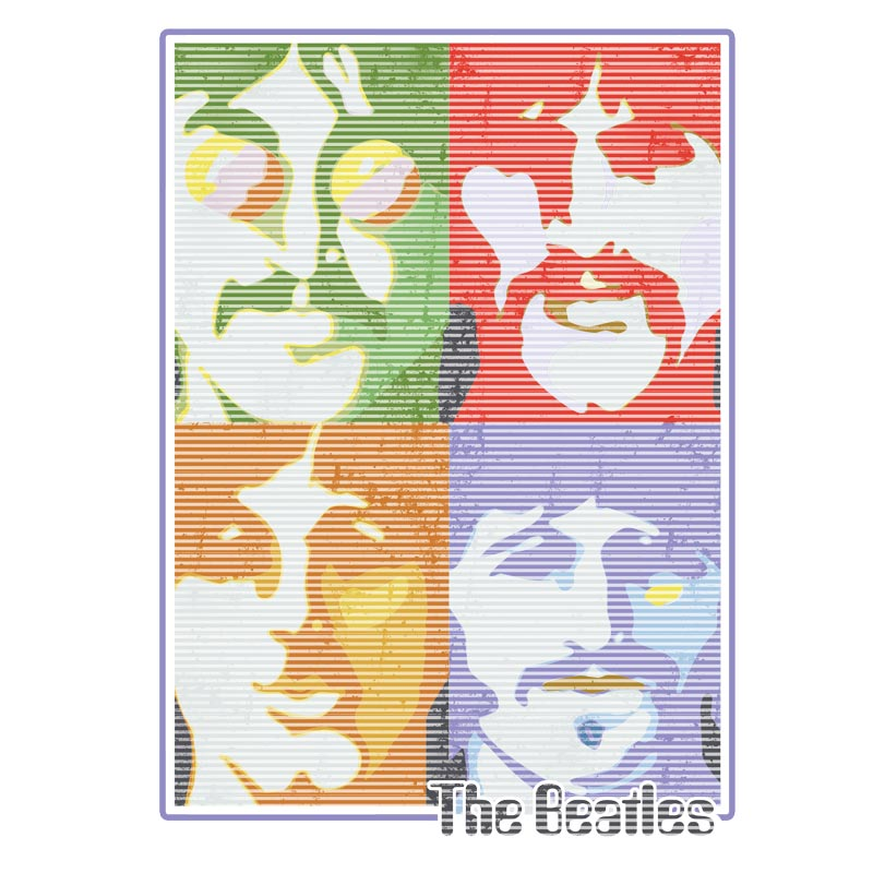 Moletom Branco The Beatles Pop Art Light