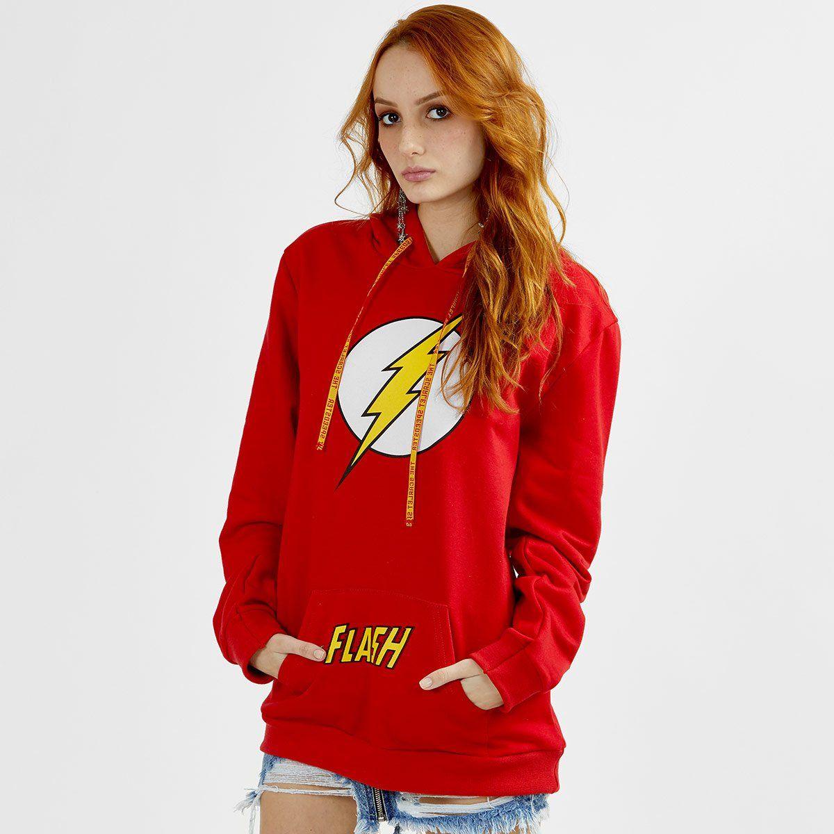 Moletom Feminino The Flash Logo