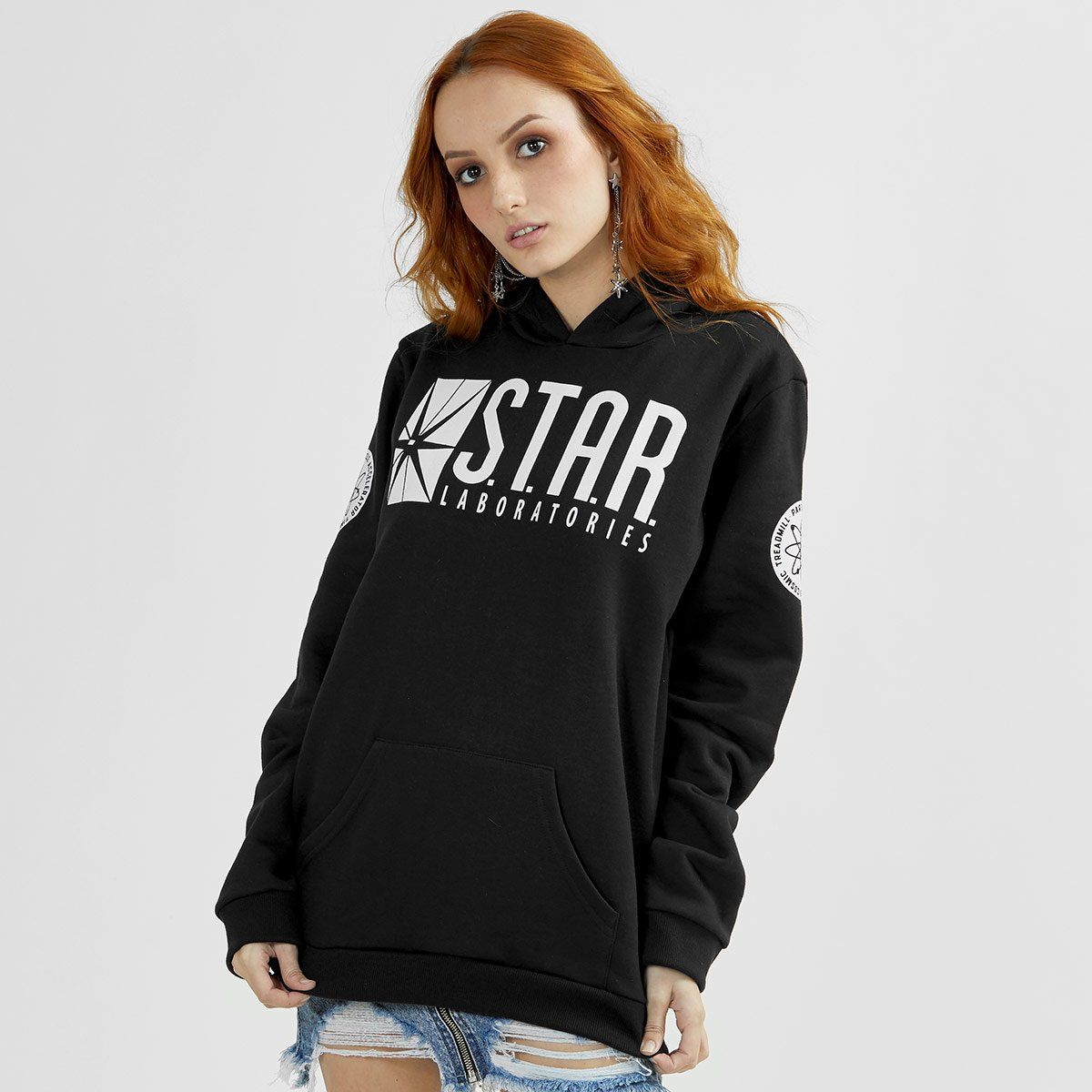 Moletom Feminino The Flash Serie Star Laboratories