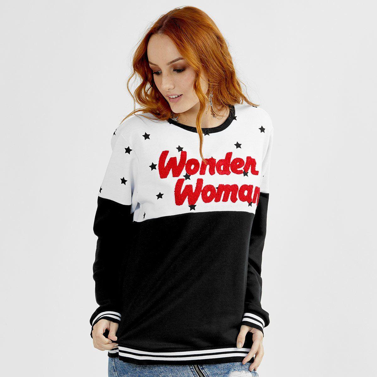 Moletom Feminino Wonder Woman Stars