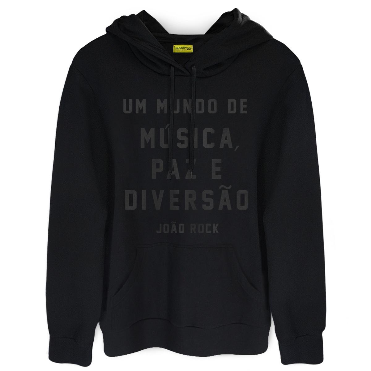 Moletom João Rock Um Mundo de Música, Paz e Diversão