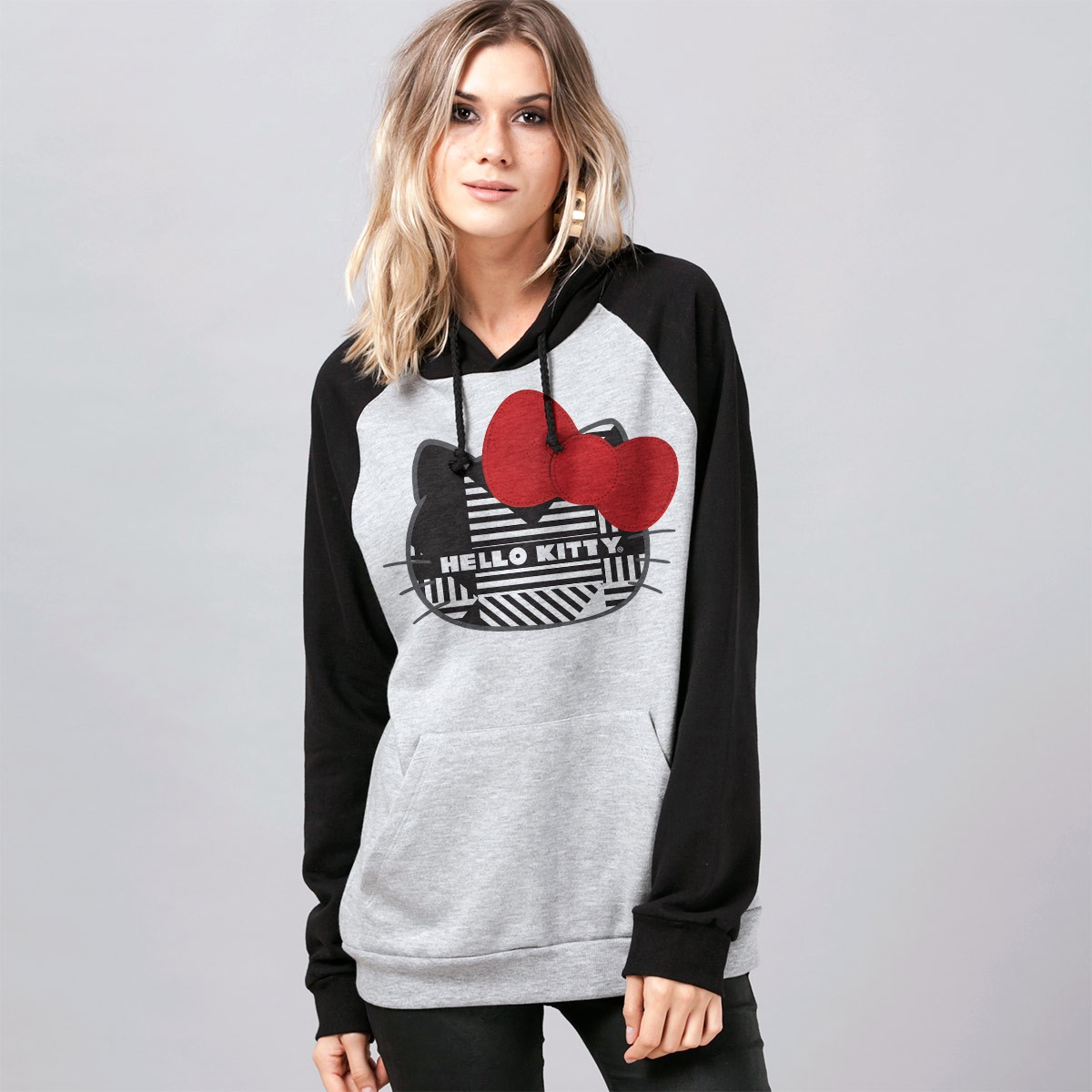 Moletom Raglan Hello Kitty Abstract