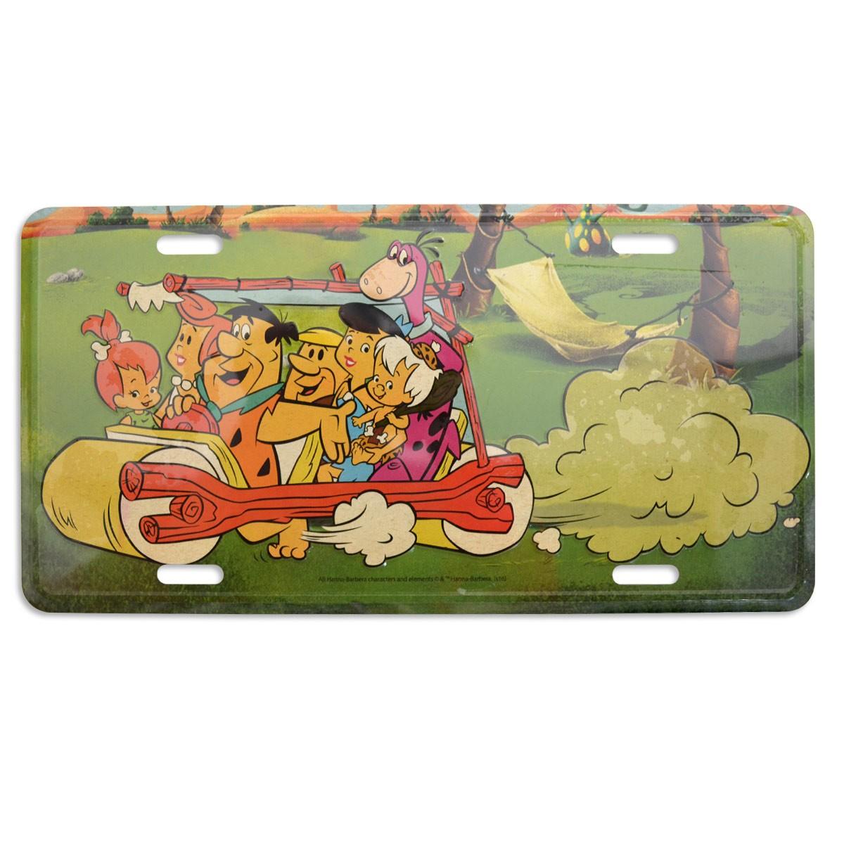 Placa de Parede HB Os Flintstones Grande Família
