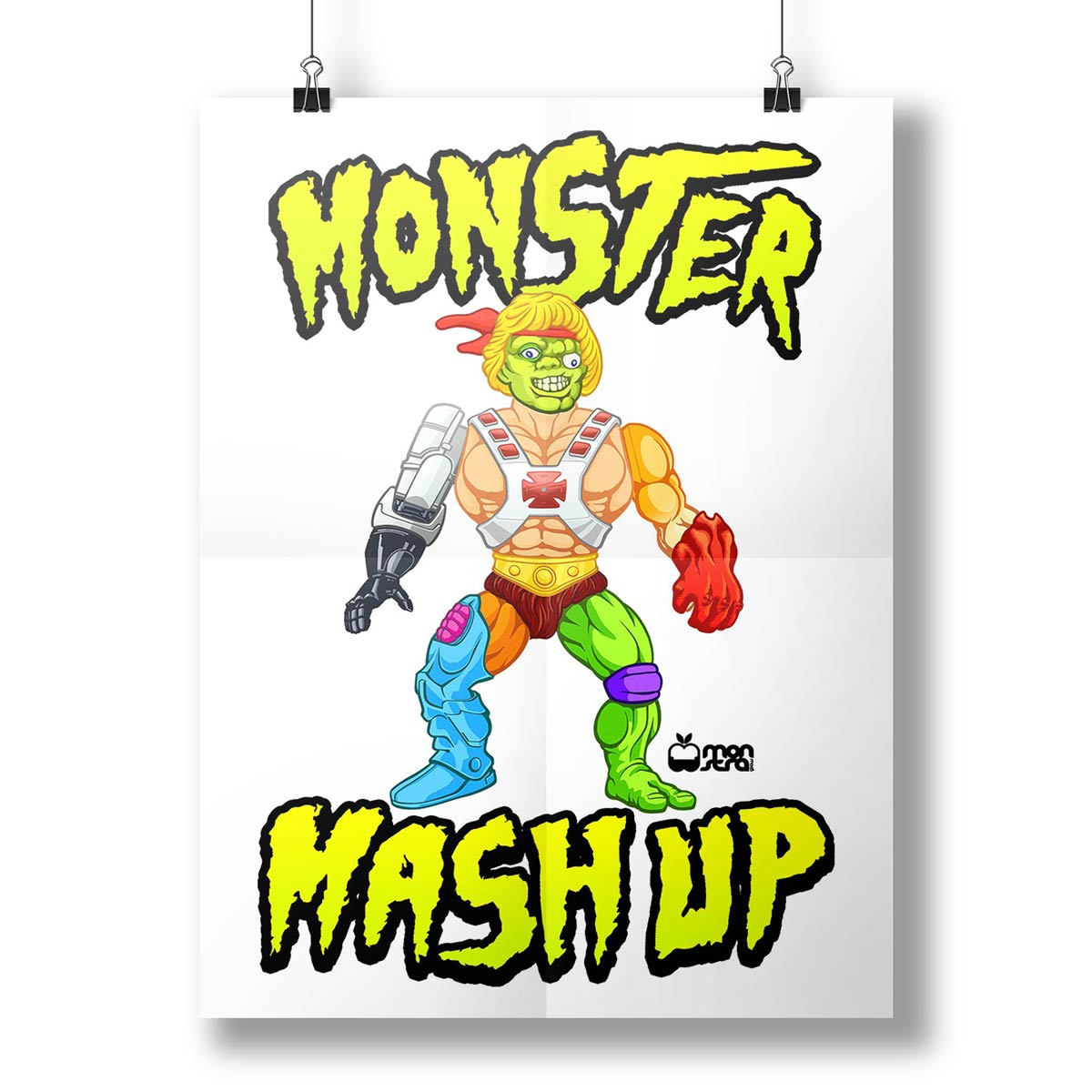 Pôster Monstra Maçã Monster Mash Up