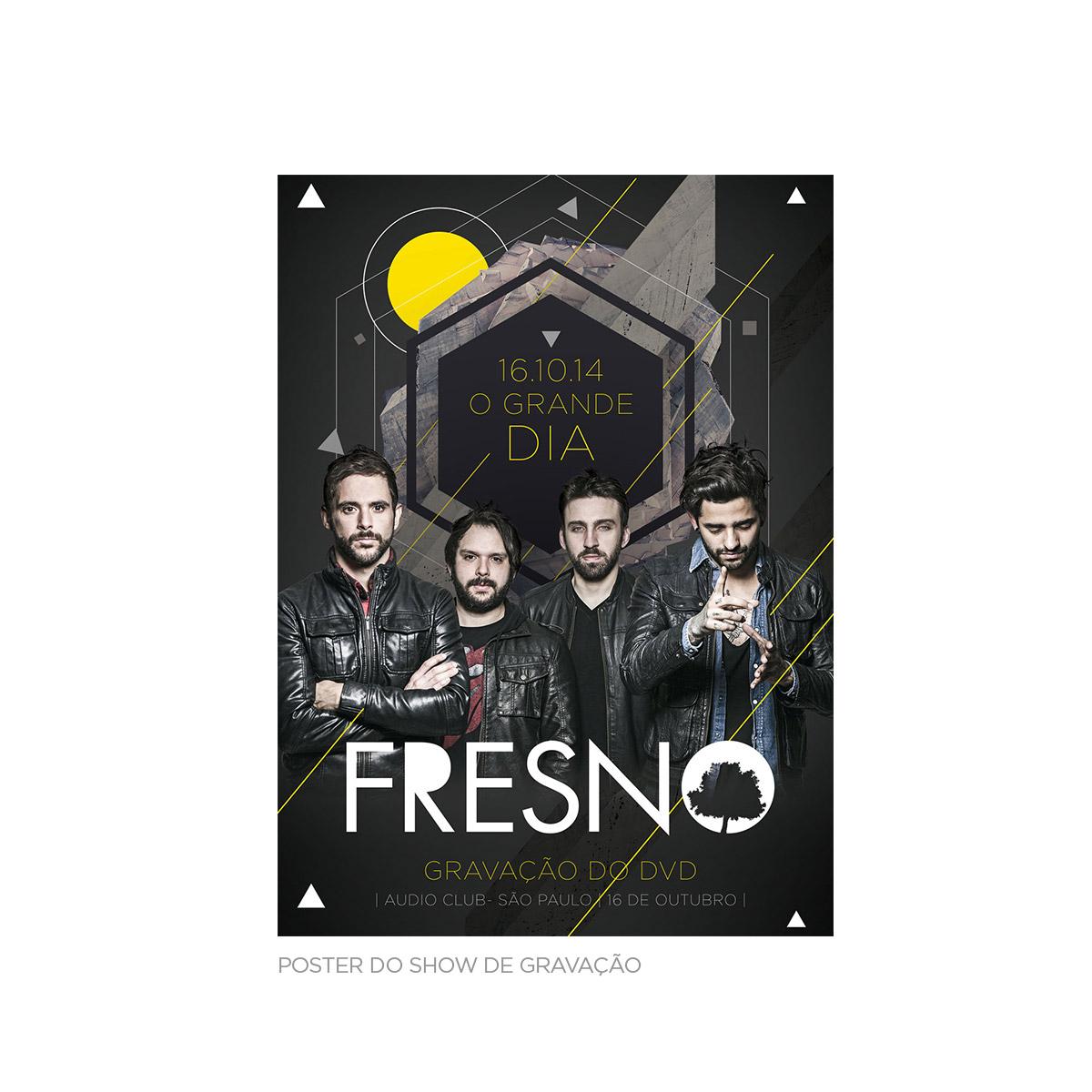 Combo DVD Fresno 15 Anos ao Vivo AUTOGRAFADO + Camiseta