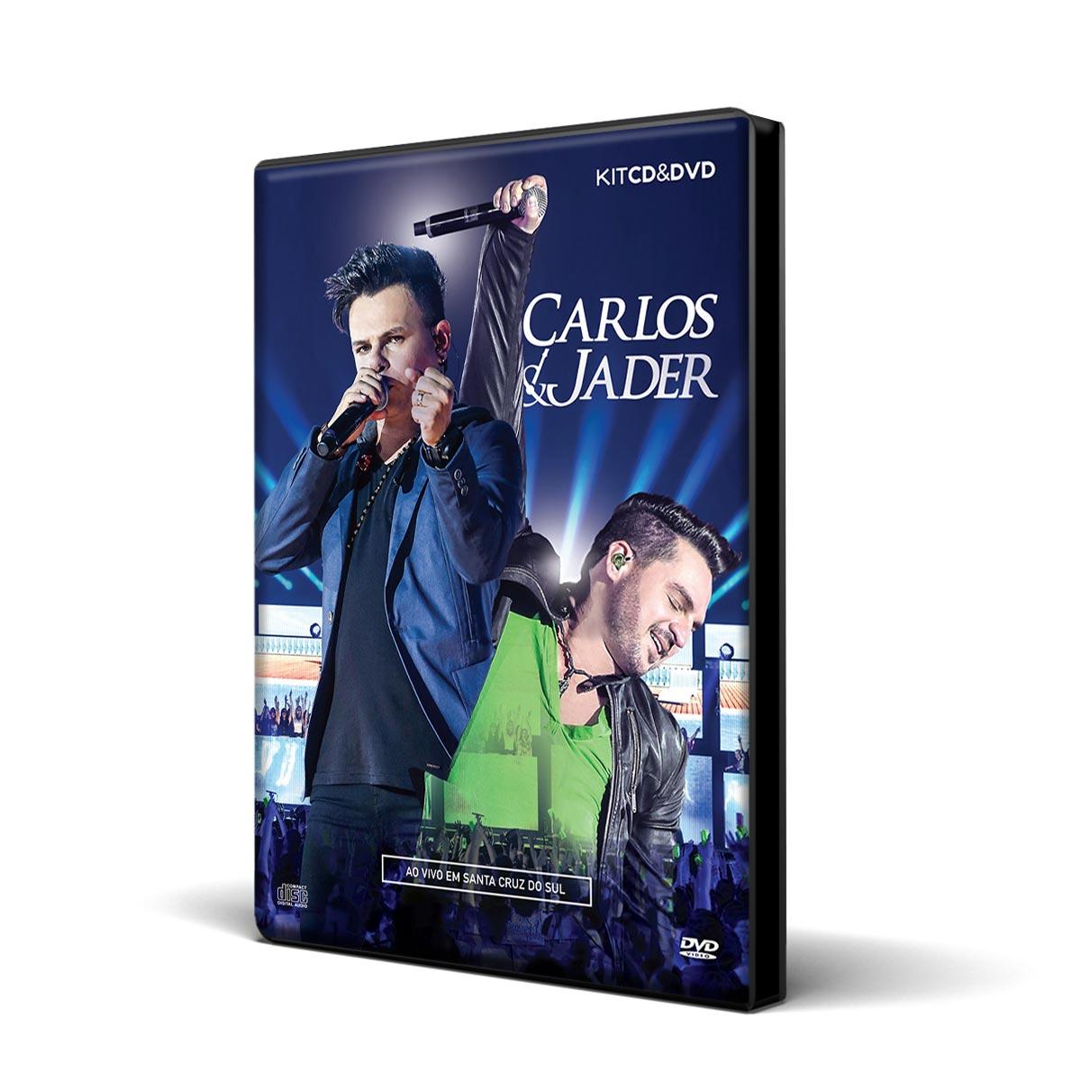 Kit CD+ DVD Carlos & Jader Ao Vivo Em Santa Cruz do Sul