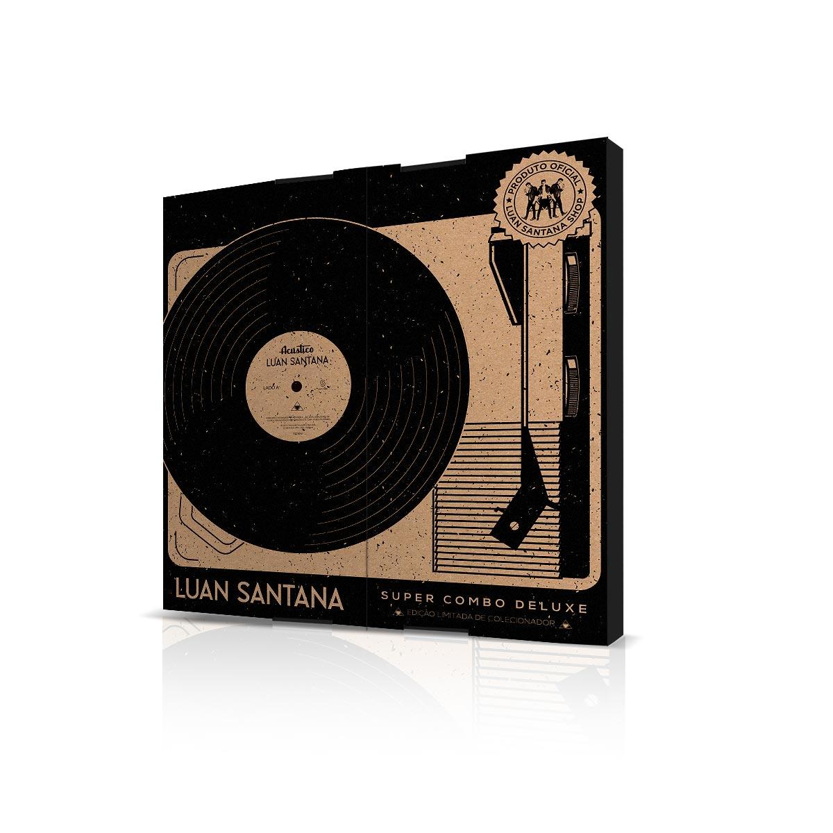 Super Combo Deluxe com LP AUTOGRAFADO + Camiseta