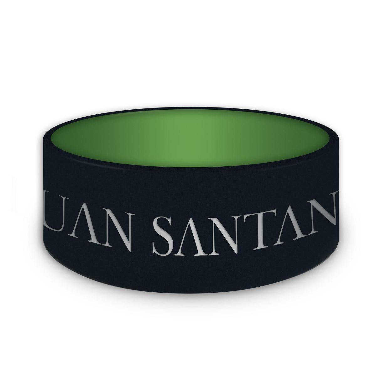 Pulseira de Silicone Verde Que Brilha no Escuro Luan Santana