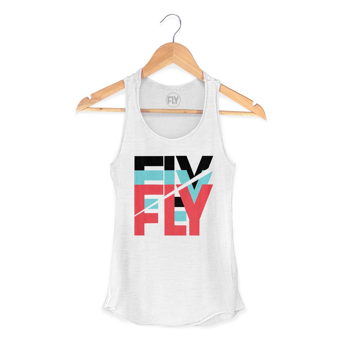 Regata Premium Feminina Banda Fly Logo Colors