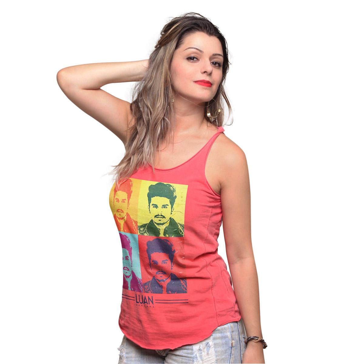 Regata Premium Feminina Luan Santana Pop Art