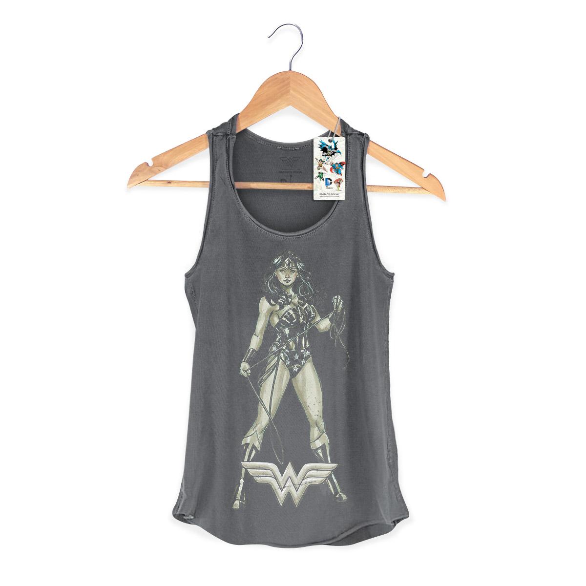 Regata Premium Feminina Wonder Woman Hyper Retro