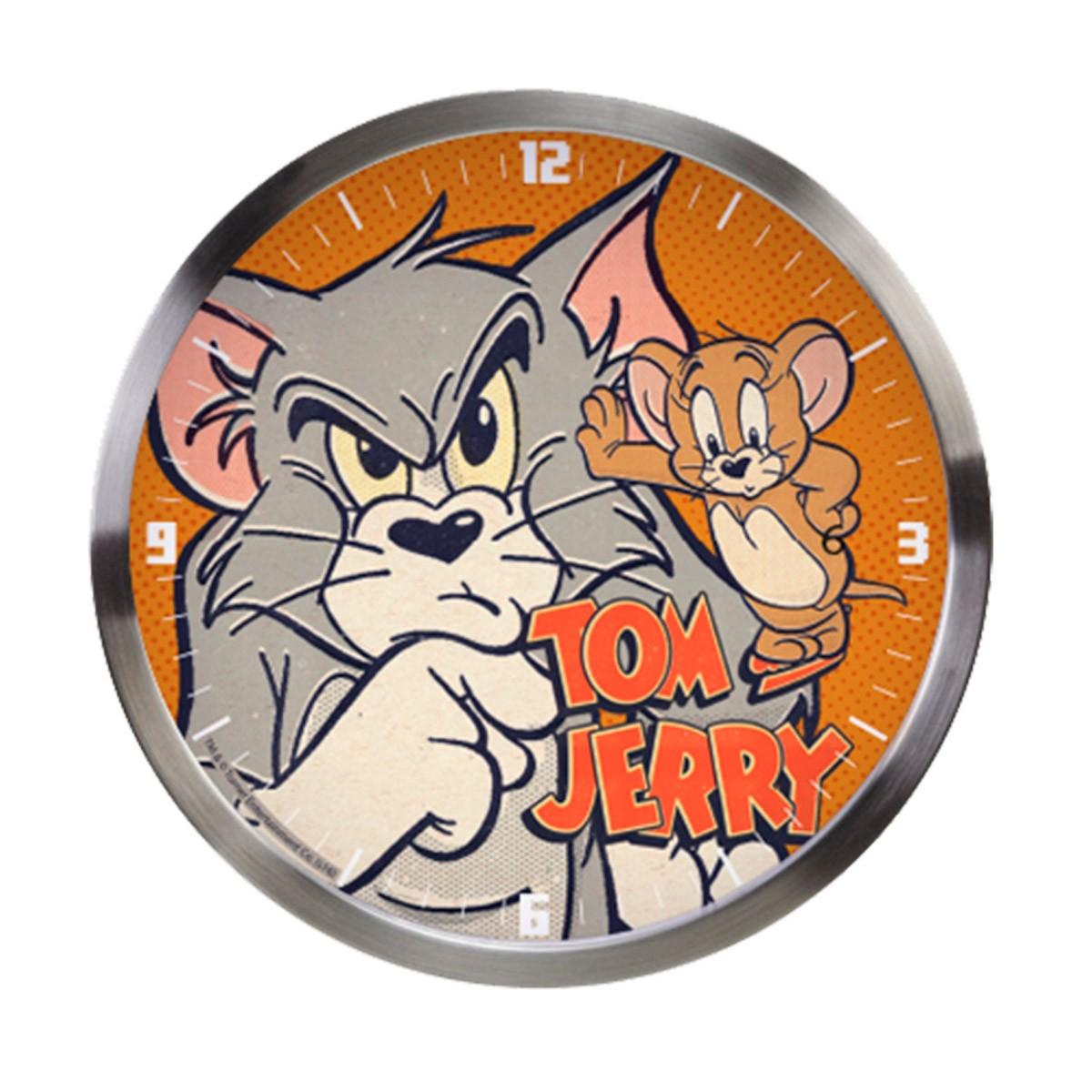 Relógio de Parede Tom e Jerry Mad