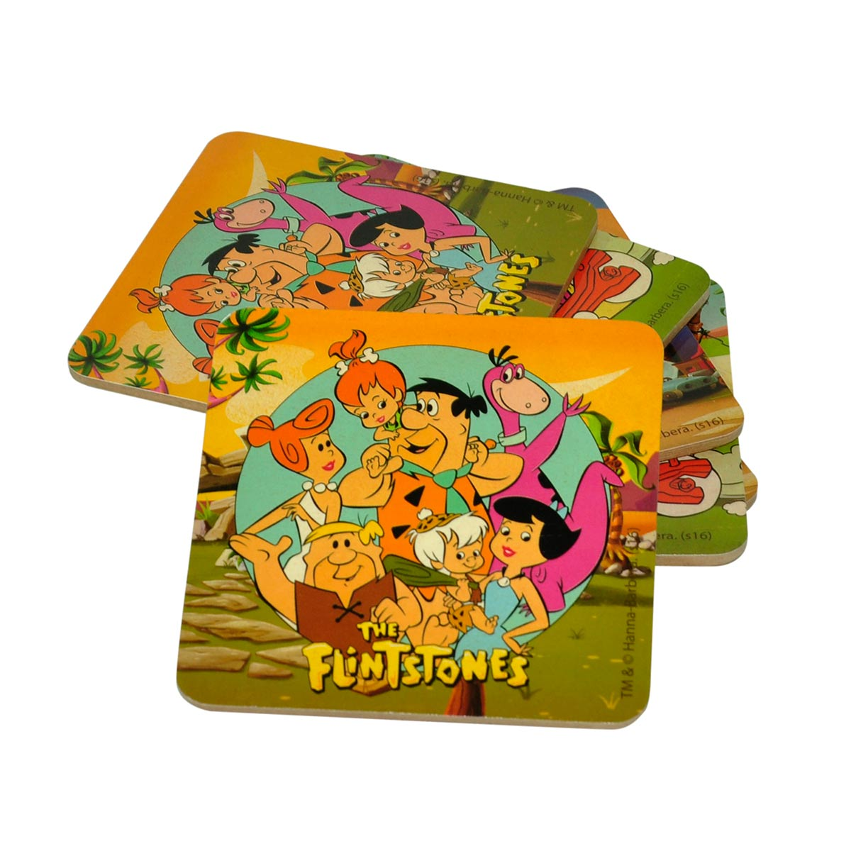 Set com 6 Porta-Copos HB Os Flintstones Personagens