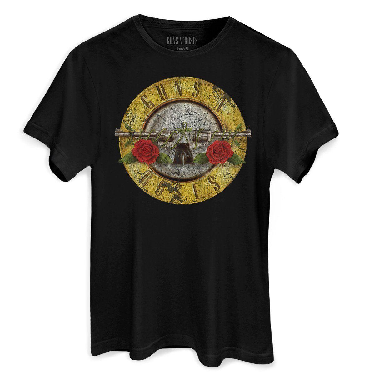 T-Shirt Feminina Guns N Roses Bullet