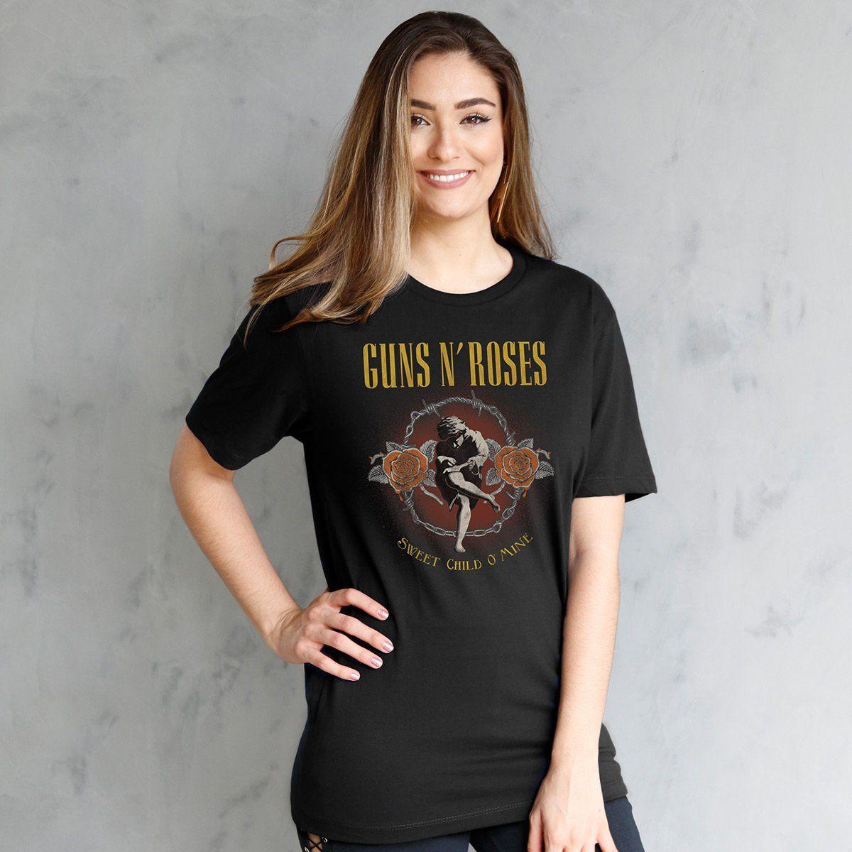 T-Shirt Feminina Guns N´ Roses Sweet Child