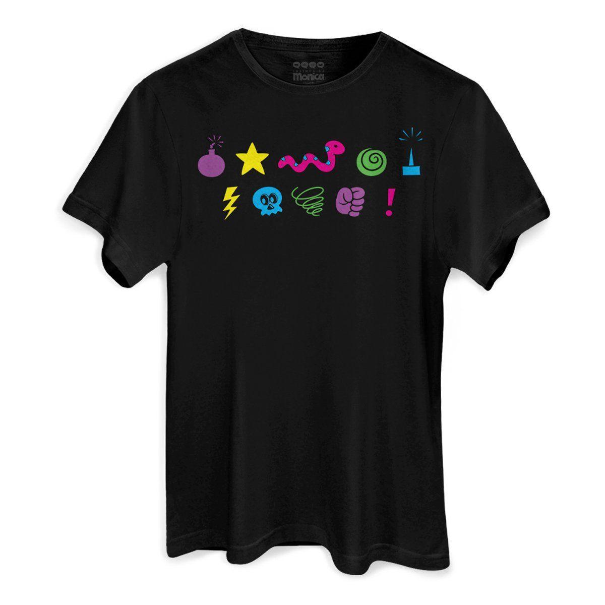 T-shirt Flip Up Unissex Turma da Mônica Cobras e Lagartos
