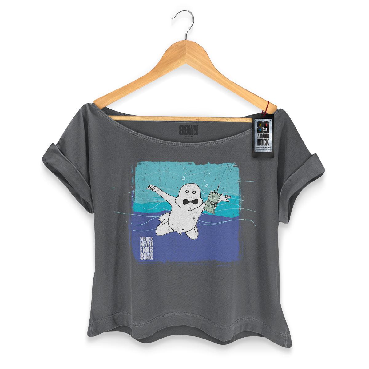T-shirt Premium Feminina 89FM A Rádio Rock Nirvana Never Ends