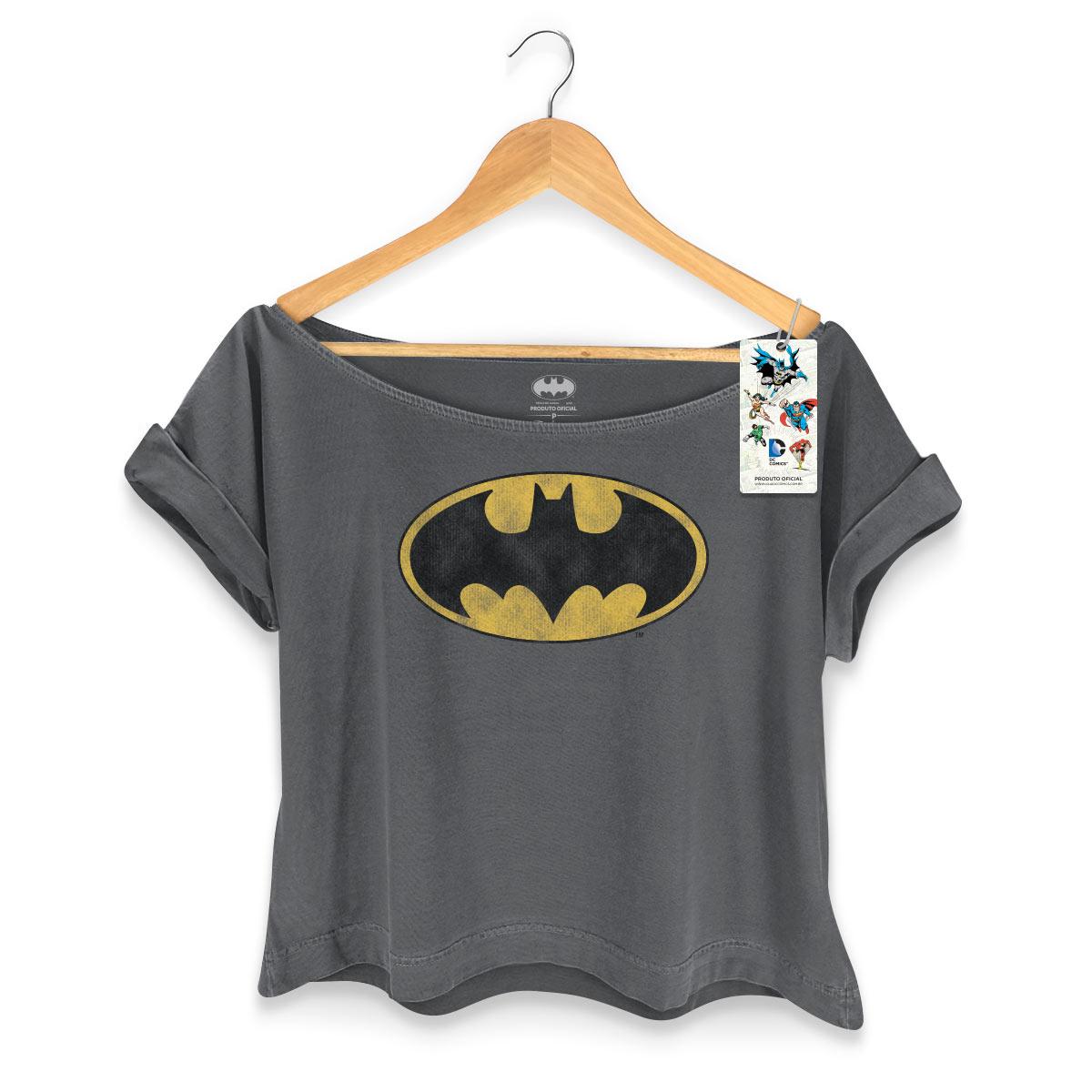 T-shirt Premium Feminina Batman Logo Clássico