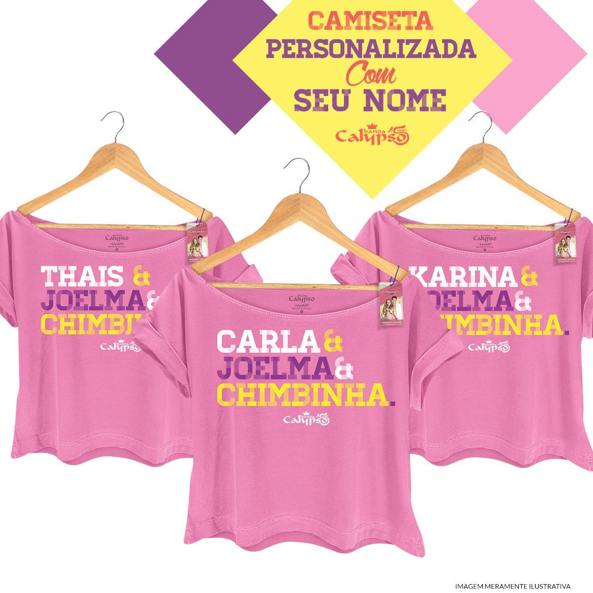 T-shirt Premium Feminina Calypso Você, Joelma e Chimbinnha