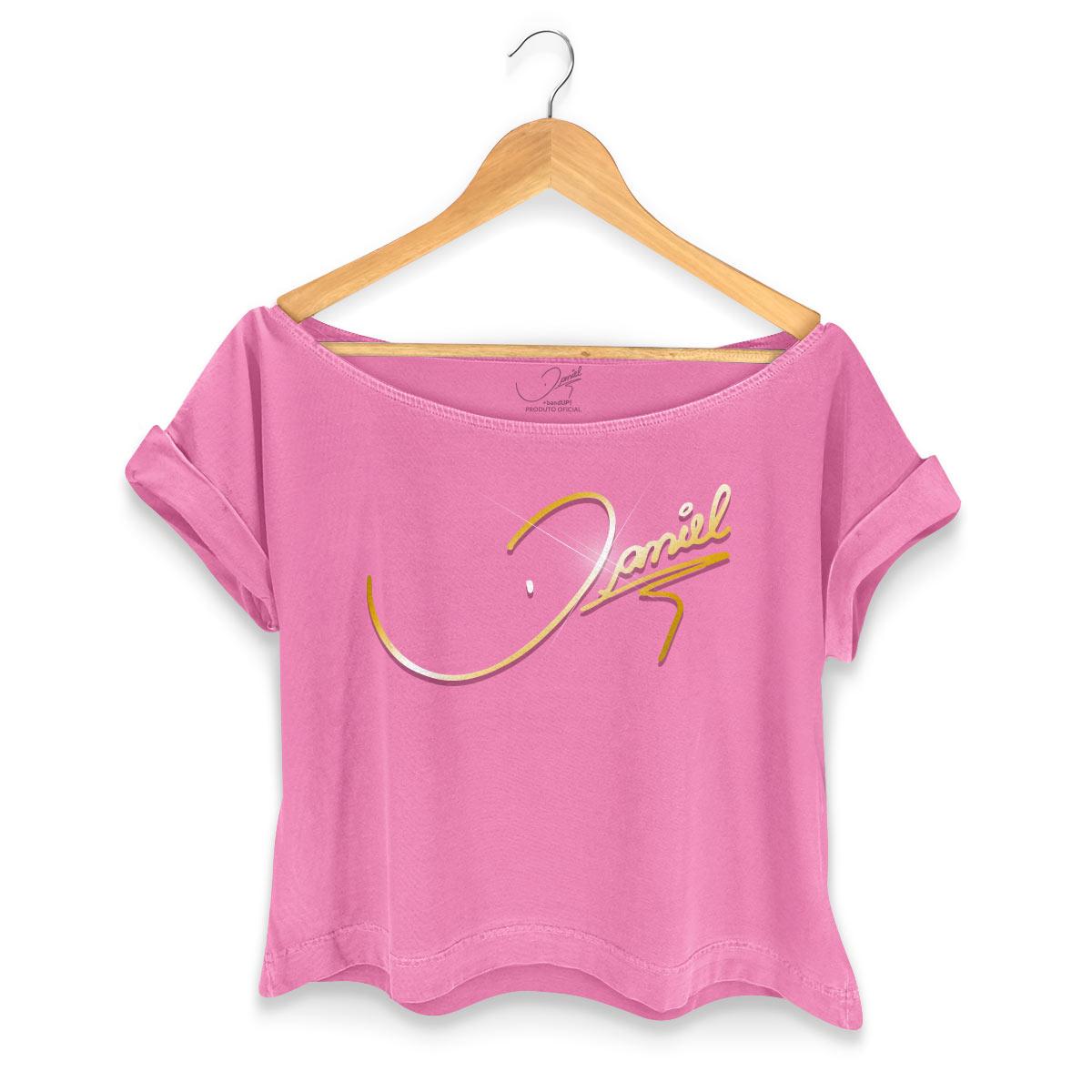 T-shirt Premium Feminina Daniel Logo Gold