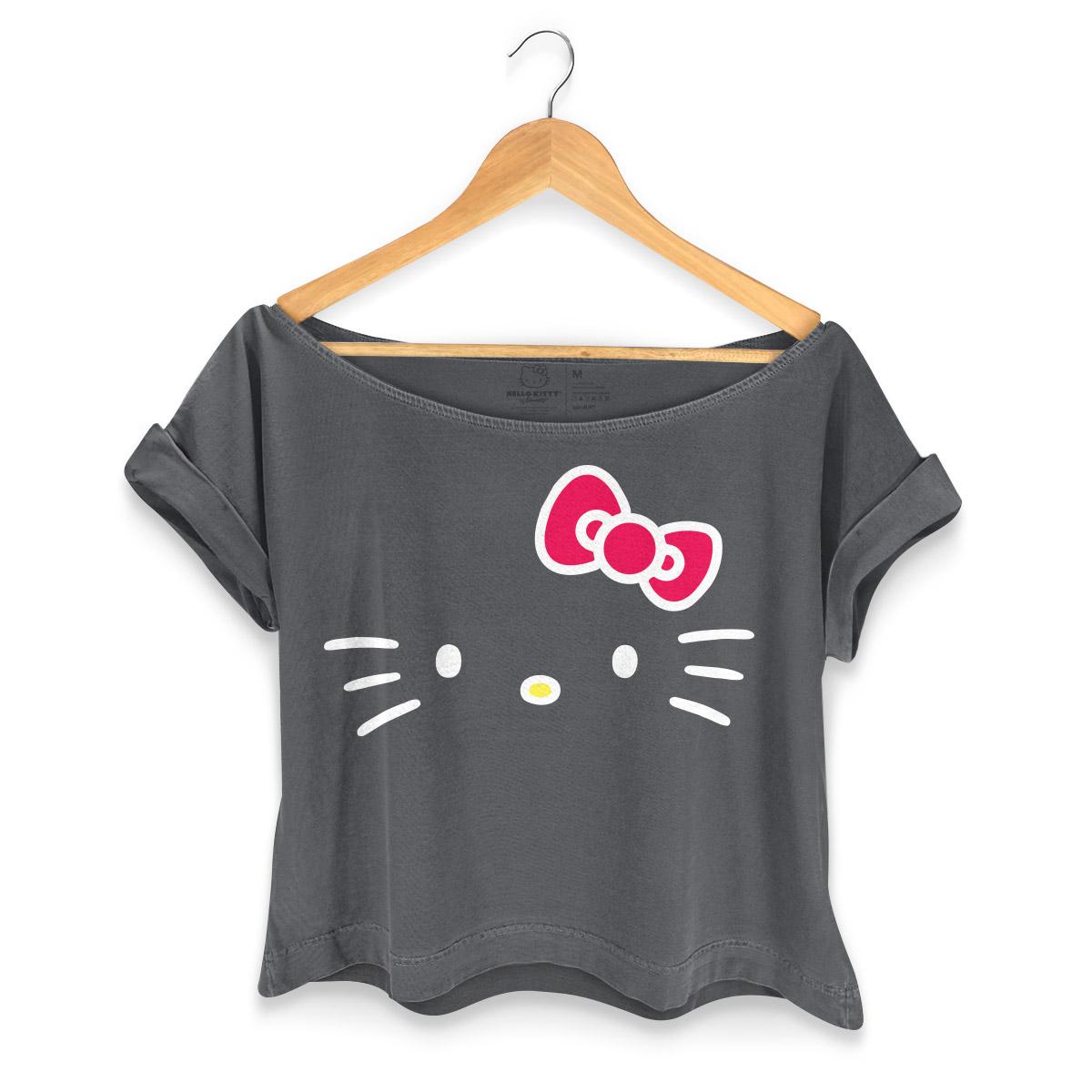 T-shirt Premium Feminina Hello Kitty Black