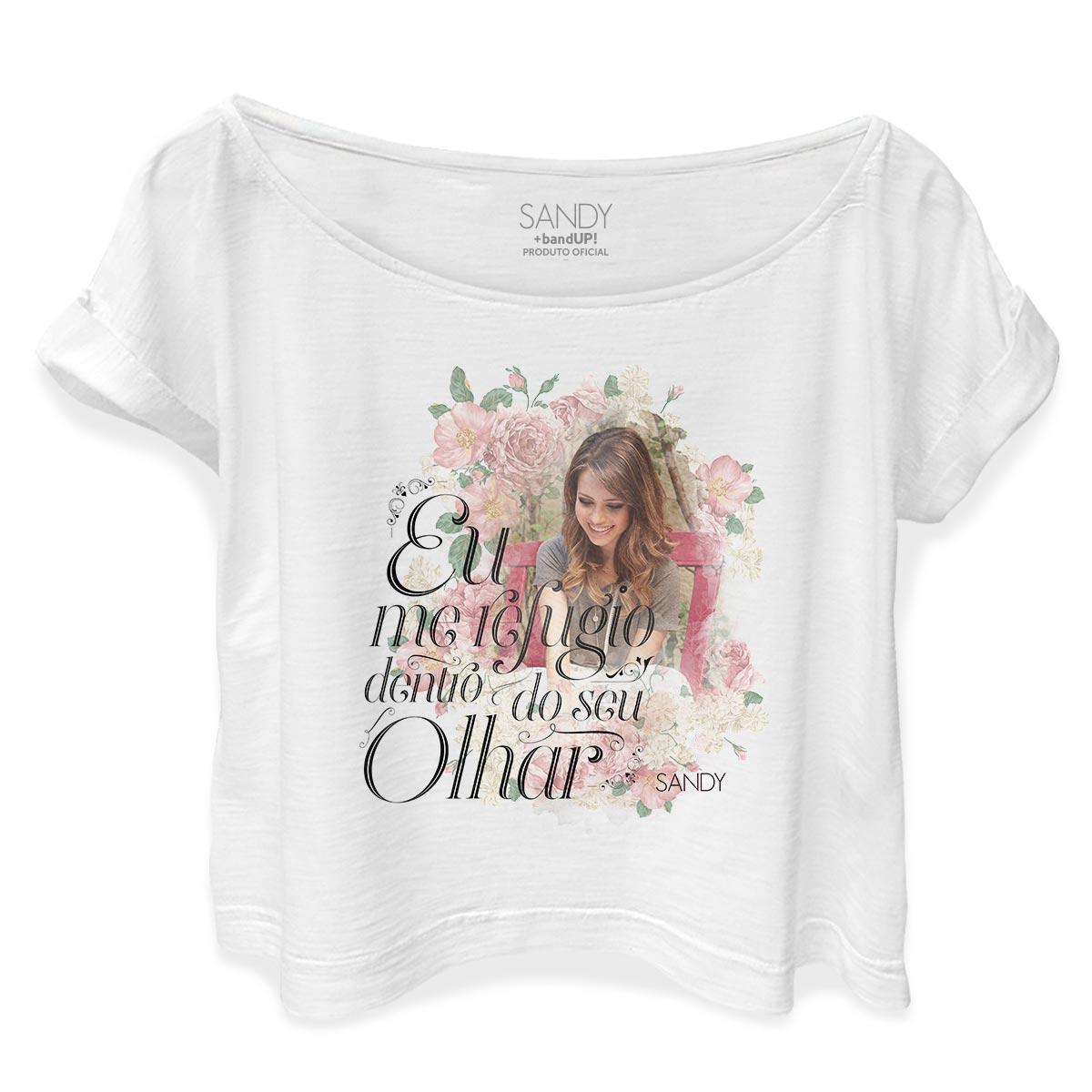 T-shirt Premium Feminina Sandy Dentro do Seu Olhar