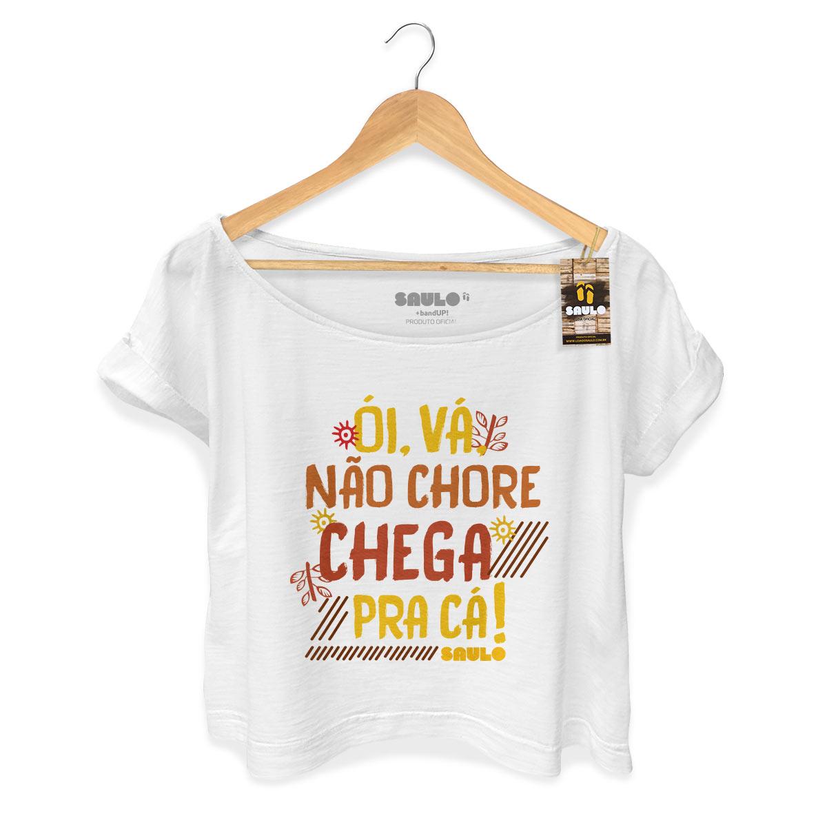 T-shirt Premium Feminina Saulo Chega Pra Cá