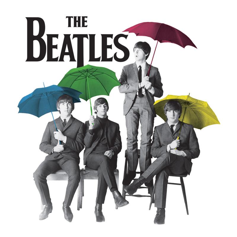 T-shirt Premium Feminina The Beatles Umbrella Colors