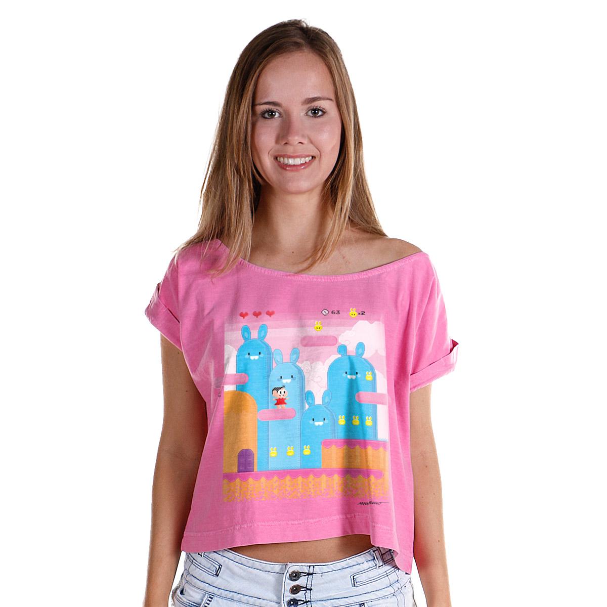 T-shirt Premium Feminina Turma da Mônica Pixel Mônica