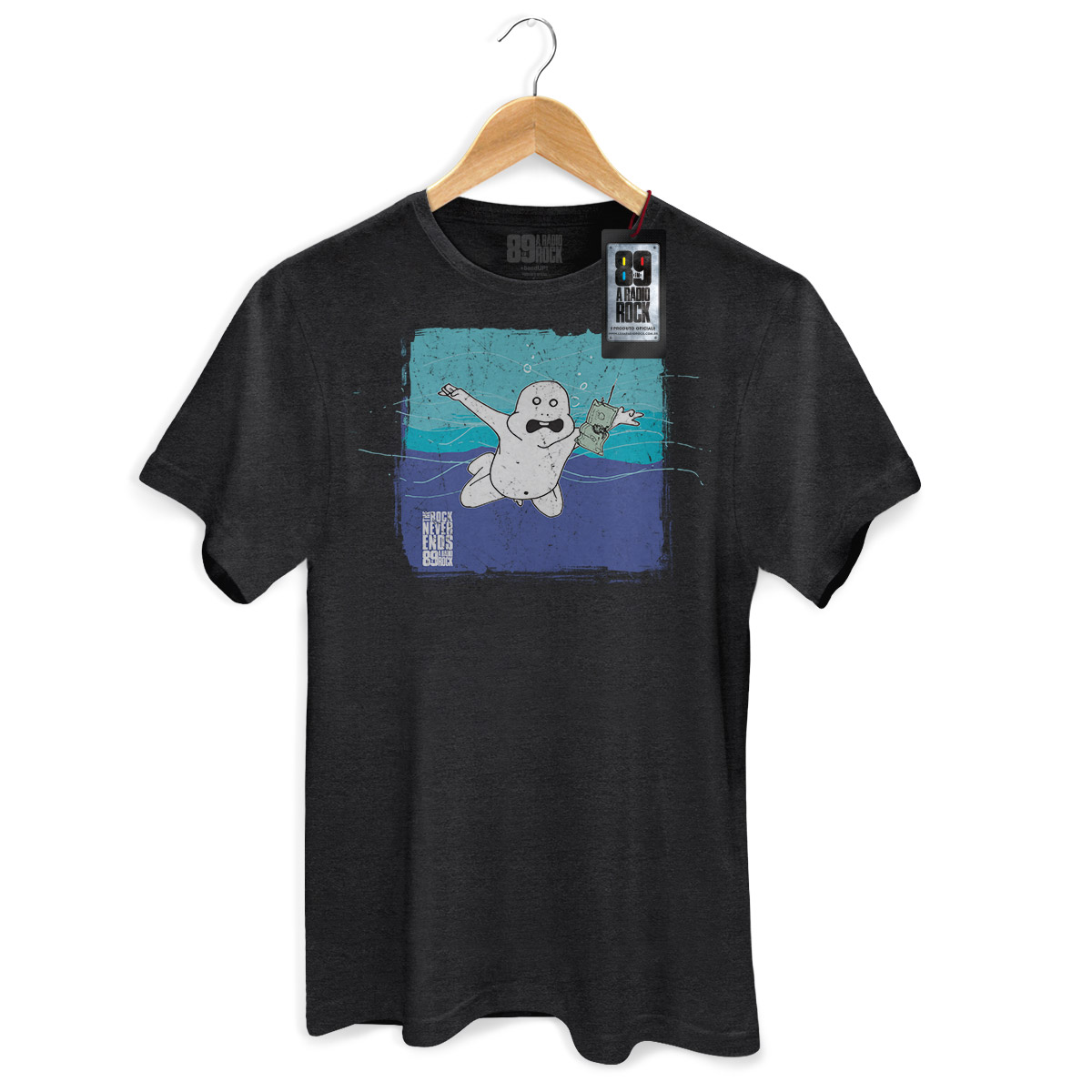 Camiseta Masculina 89FM A Rádio Rock Nirvana Never Ends