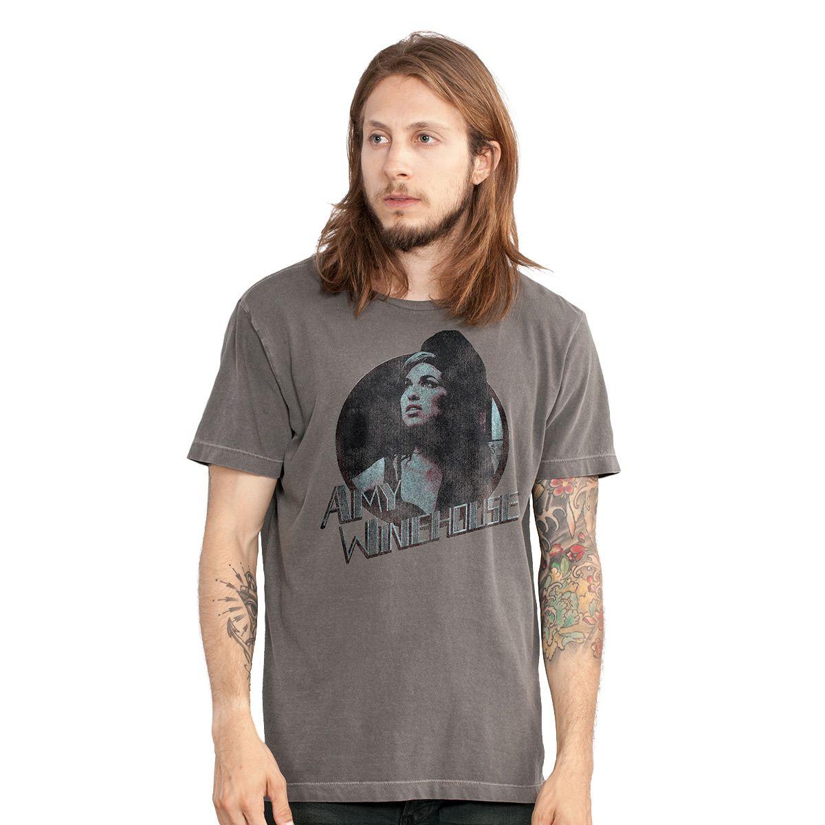 T-shirt Premium Masculina Amy Winehouse Retrô