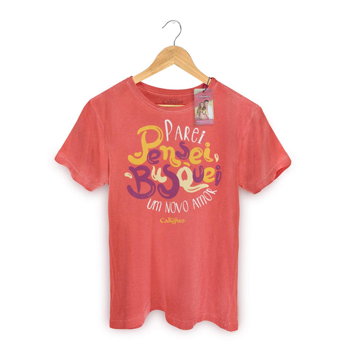 T-shirt Premium Masculina Calypso Meu Novo Amor