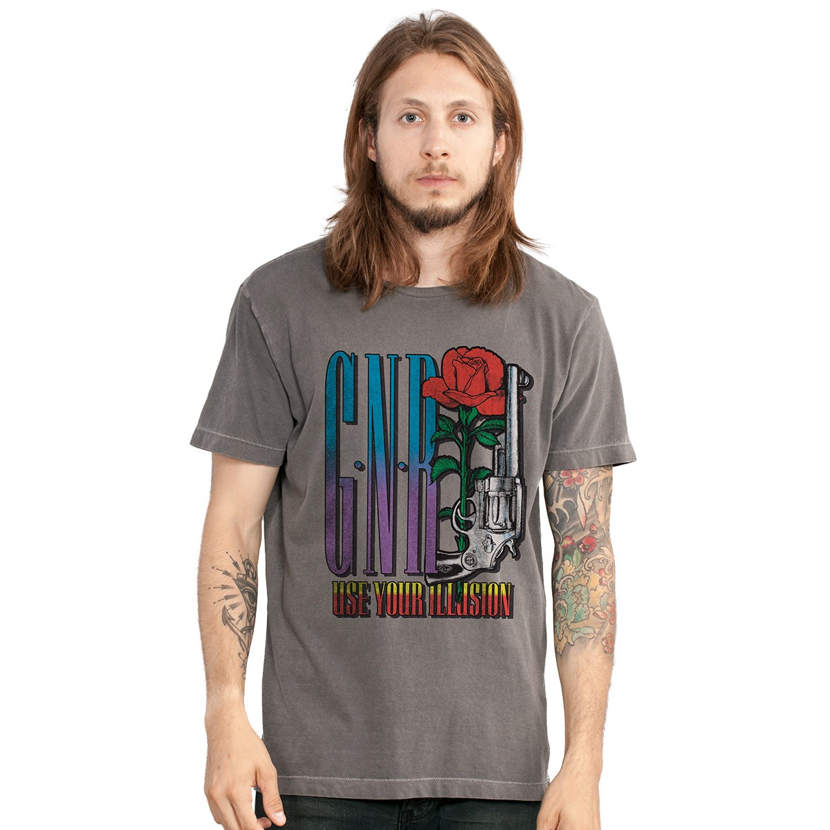 T-shirt Premium Masculina Guns N´ Roses Use Your Illusion