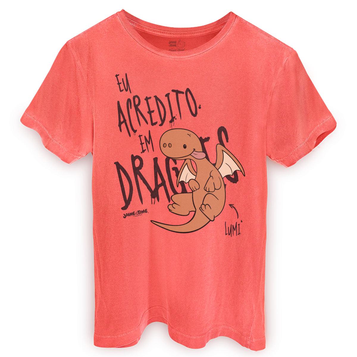 T-shirt Premium Masculina Jaime Eu Acredito em Dragões