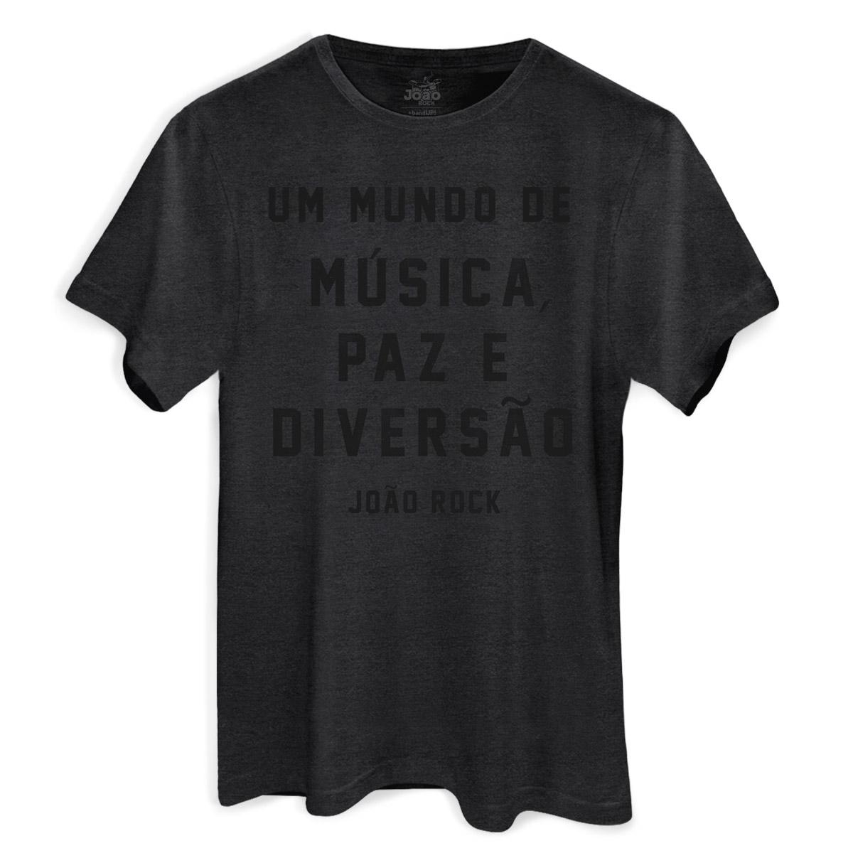 Camiseta Masculina João Rock Música, Paz e Diversão