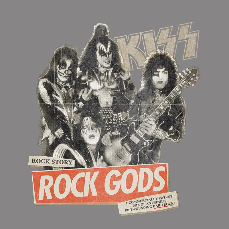 T-shirt Premium Masculina Kiss Rock Story Gray