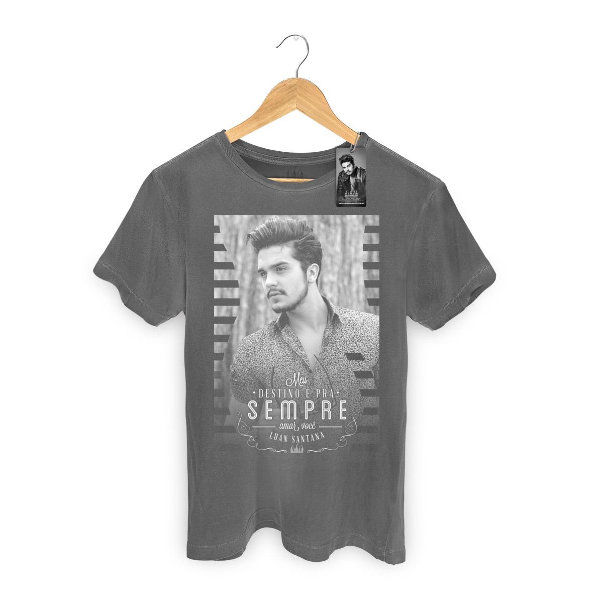 T-shirt Premium Masculina Luan Santana Meu Destino