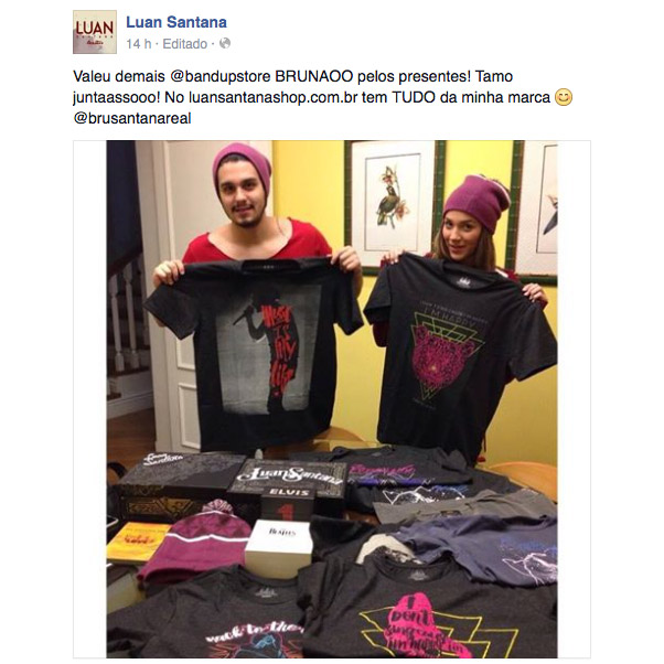 T-shirt Premium Masculina Luan Santana Music Is My Life