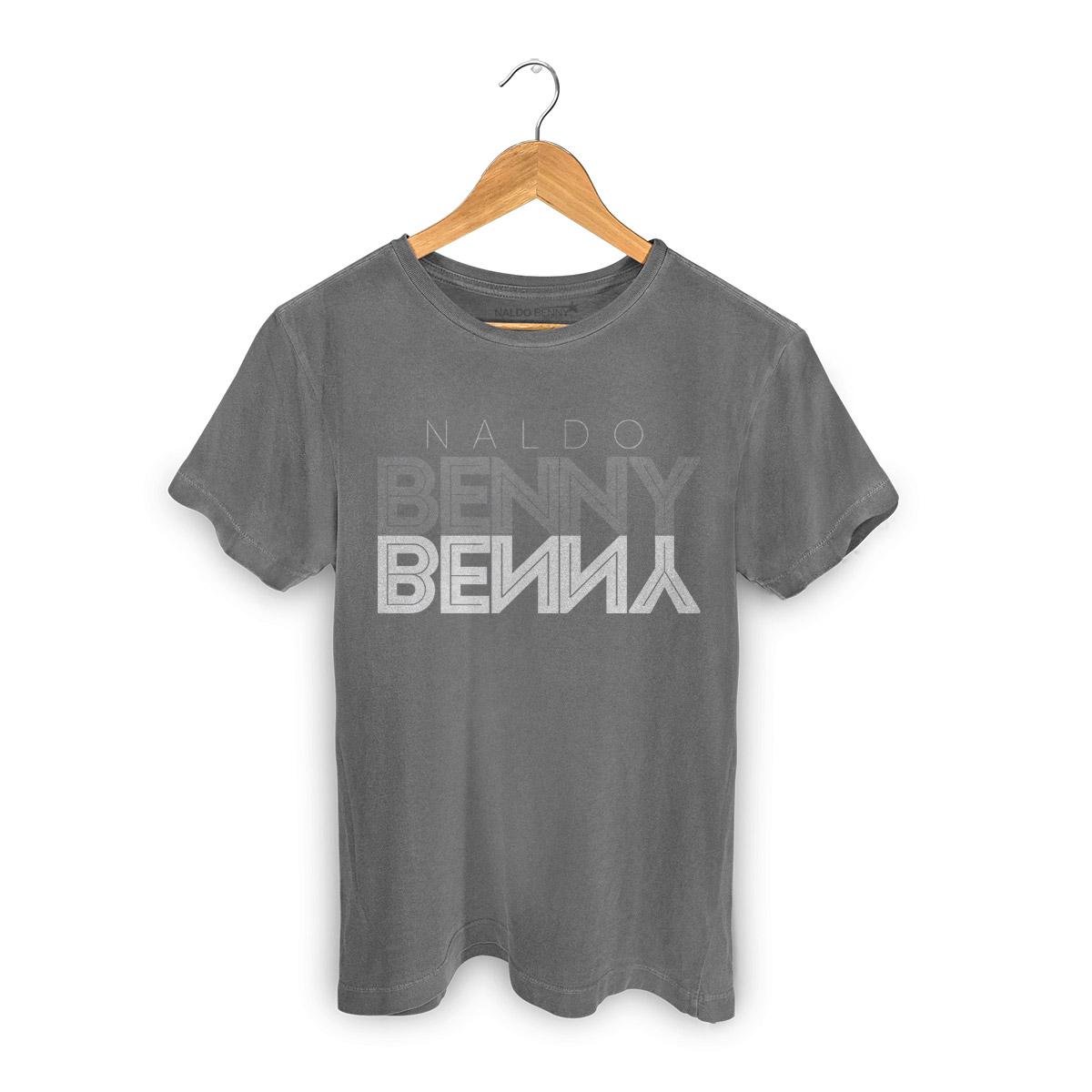 T-shirt Premium Masculina Naldo Benny Type Gray