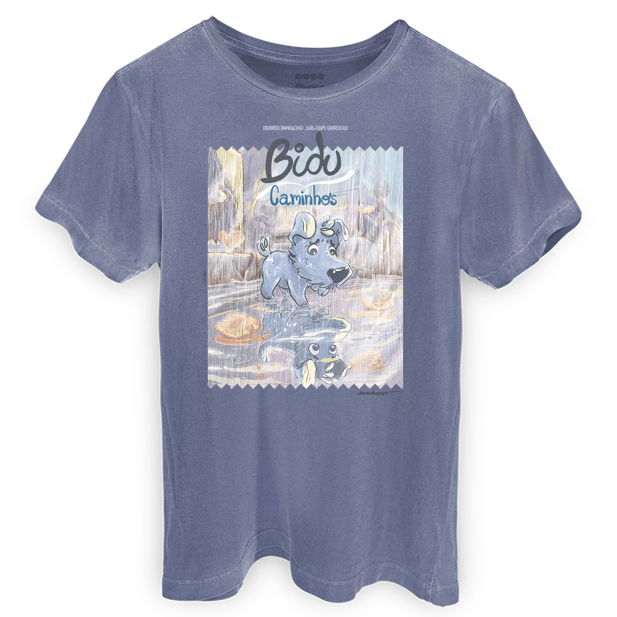 T-shirt Premium Masculina Turma da Mônica Bidu Caminhos