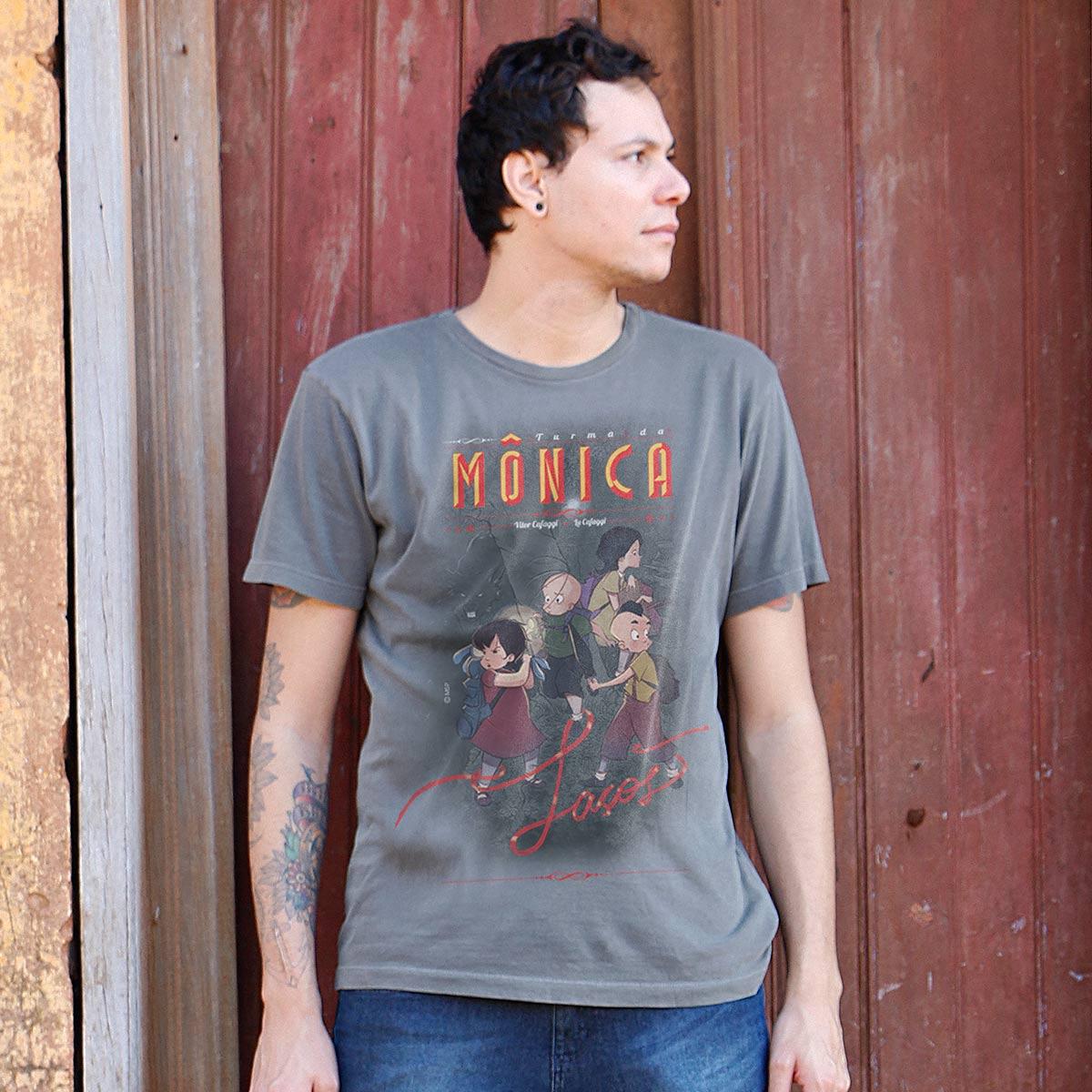 T-shirt Premium Masculina Turma da Mônica Laços